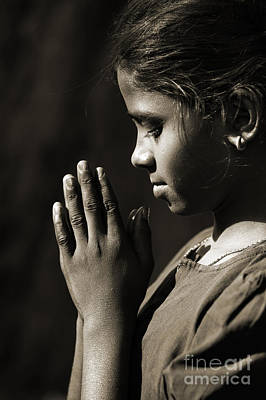 Prayers Of A Child Art Print by Tim Gainey