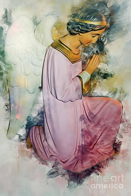 Painting - Praying Angel by Ian Mitchell
