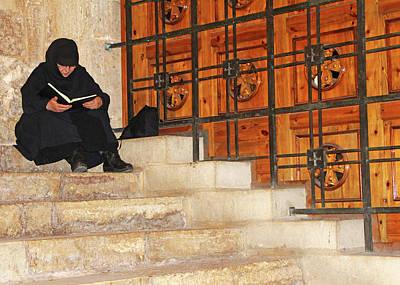 Photograph - Praying At Holy Sepulchre by Munir Alawi