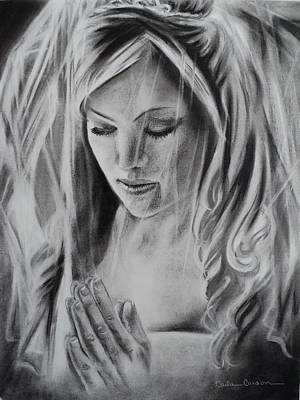Drawing - Praying Bride by Carla Carson
