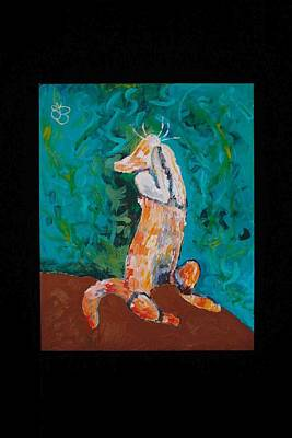 Painting - Praying Cat by AJ Brown