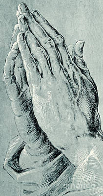 Sketching Drawing - Praying Hands, Also Known As Study Of The Hands Of An Apostle  by Albrecht Durer