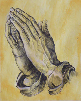 Praying Hands Original by Donovan Hubbard