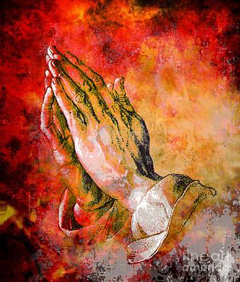 Praying Hands Art Print by Tammera Malicki-Wong
