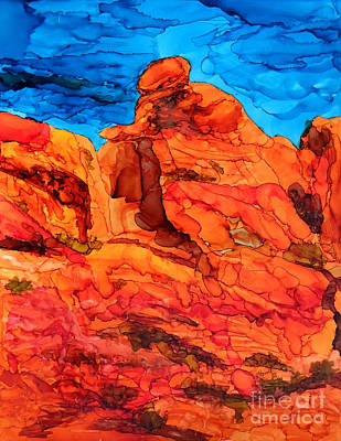 Painting - Praying Lady At Red Rock Canyon 2 by Vicki  Housel