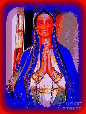 Digital Art - Praying Madonna by Ed Weidman