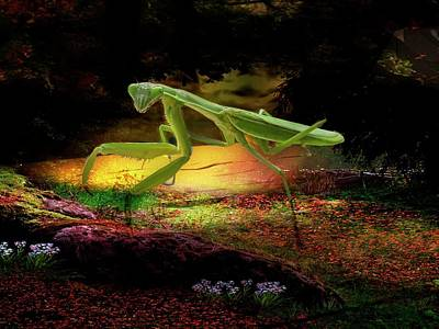 Digital Art - Praying Mantis by Rusty R Smith