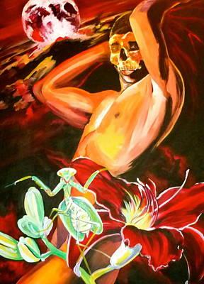 Painting - Praying Mantis by Yelena Tylkina