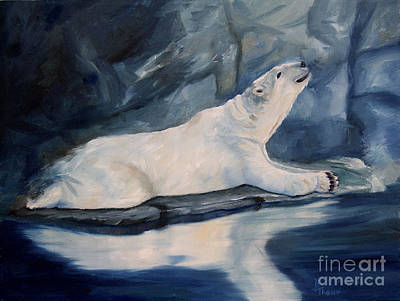 Painting - Praying Polar Bear Original Oil Painting by Brenda Thour