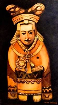 Painting - Pre Columbian God by Susan Santiago