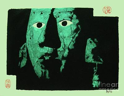Mayan Painting - Pre Columbian Jade Mask by Roberto Prusso