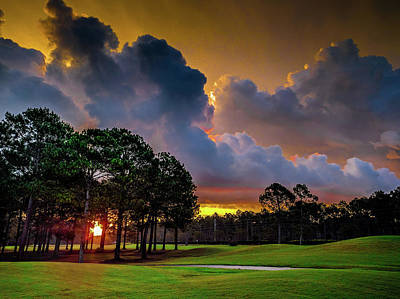 Photograph - Pre-dawn Colors On The Golf Course by Gerald Monaco
