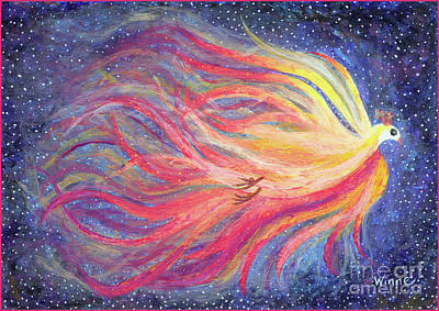 Painting - Pre-dawn Firebird by Lise Winne