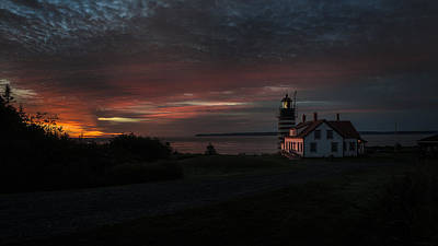 Pre Dawn Light At West Quoddy Head Lighthouse 2 Art Print by Marty Saccone