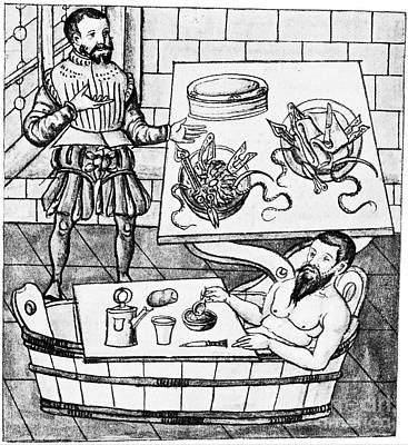 Op Art Photograph - Pre-operation Medical Scene, 1559 by Wellcome Images
