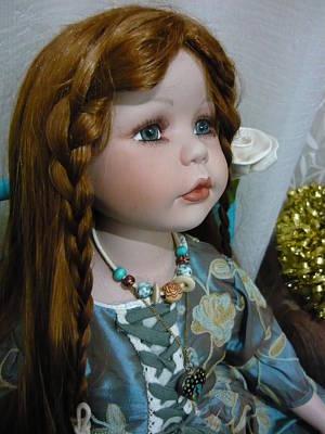 Pre Raphaelite Doll  Art Print by Adrianne Wood