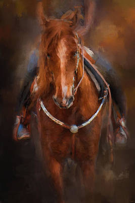 Tack Painting - Pre Show Ride Horse Art by Jai Johnson