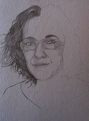 Pre Sketch For Clare Pencil Art Print by Ray Agius