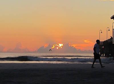Photograph - Pre-sunrise On Daytona Beach Pier  001  by Chris Mercer