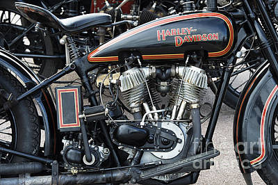 Pre War Harley Davidson Art Print by Tim Gainey