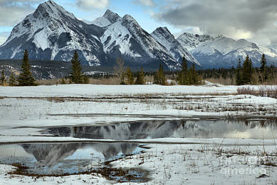 Photograph - Preachers Point Spring Reflections by Adam Jewell