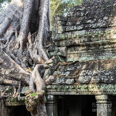 Photograph - Preah Khan Roots And Stone 02 by Rick Piper Photography