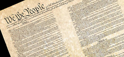 Preamble Of The Constitution Of The United States Art Print