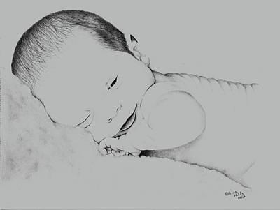 Drawing - Precious Baby by Patricia Hiltz
