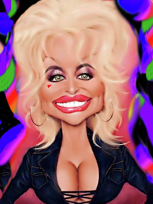 Caricature Digital Art - Precious Dolly by Karen Showell