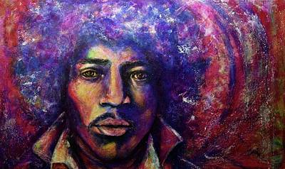 Iconic Painting - Precious Metals, Jimi by Debi Starr