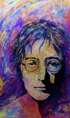 Painting - Precious Metals Lennon by Debi Starr