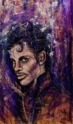 Painting - Precious Metals, Prince by Debi Starr