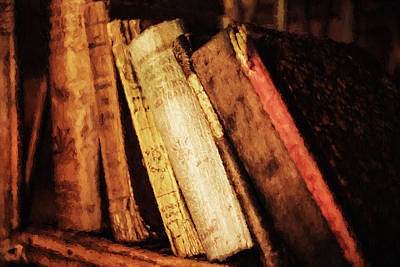 Literature Mixed Media - Precious Old Books by Georgiana Romanovna
