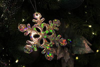 Photograph - Precious Opal Snowflake Color Play by Georgia Mizuleva
