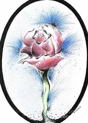 Mixed Media - Precious Rose by Teresa White