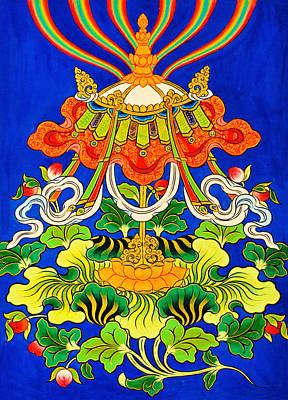 Vajrayana Painting - Precious Umbrella by Lanjee Chee