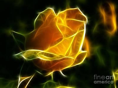 Precious Yellow Flower Diamond Style Art Print by Pamela Johnson
