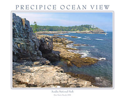 Precipice Ocean View Art Print by Peter Muzyka