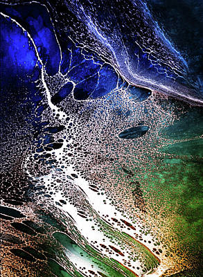 Mixed Media - Precipice Of The Ocean Abstract by Georgiana Romanovna