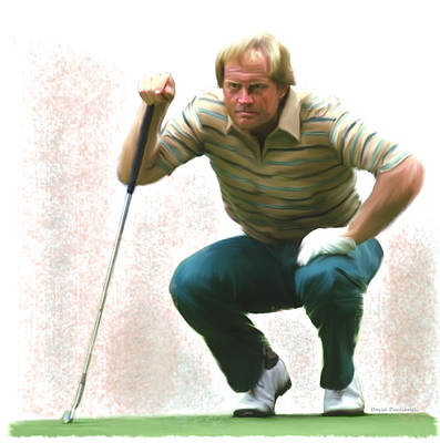 Nicklaus Painting - Precision Jack Nicklaus  by Iconic Images Art Gallery David Pucciarelli