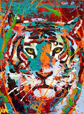 Drip Painting - Predator by Angie Wright