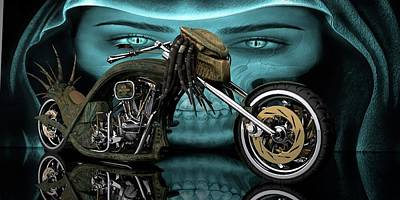 Digital Art - Predator Chopper by Louis Ferreira