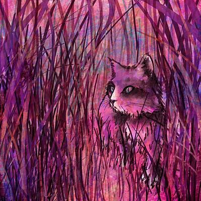 Kitty Digital Art - Predator by Rachel Christine Nowicki