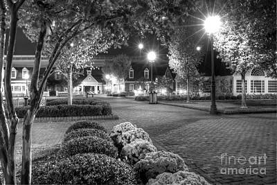 Photograph - Predawn In Yorktown Virginia Black And White by Karen Jorstad
