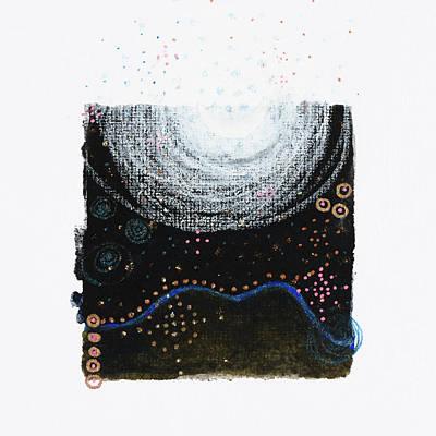 Drawing - Predawn Splendor, Sedona, Az 2017 by Damini Celebre
