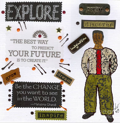 Mixed Media - Predict The Future by Angela L Walker