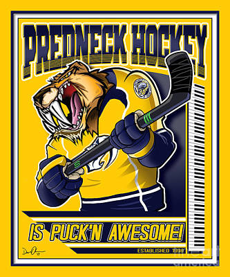 Digital Art - Predneck Hockey by Don Olea