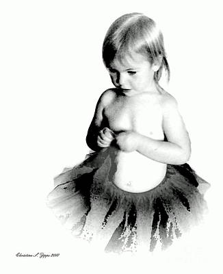 Photograph - Preemie Ballerina - Paintograph by Christine S Zipps