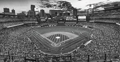 Photograph - Pregame At Busch Bw by C H Apperson