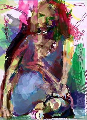 Pregnant Woman Digital Art - Pregnant With Man Child by James Thomas